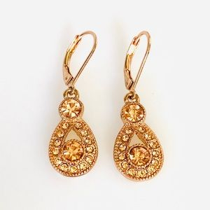 MONET Earrings With Crystals